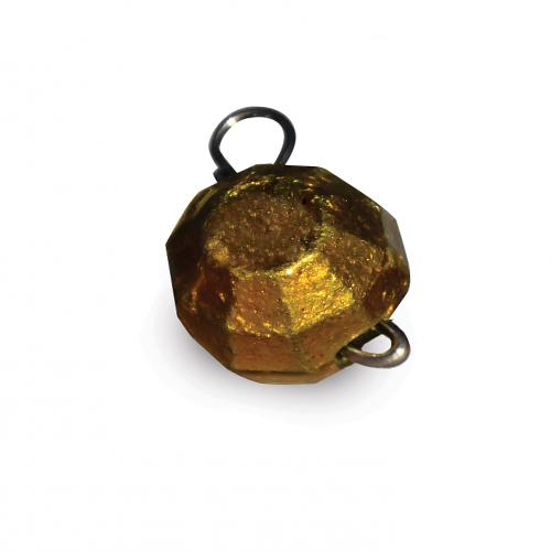 """Вантаж-головка """"Гранований розбірний"""", колір Золотий, 12 грам, 7шт/уп."""