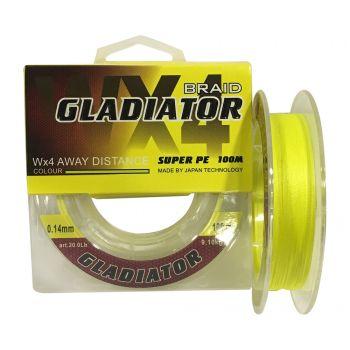 """ШНУР """"GLADIATOR"""" (жовтий, 4-х жильний) 100 m / 0.08 mm"""