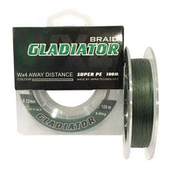 """GLADIATOR"" (зелений, 4-х жильний) 100 m / 0.10 mm"